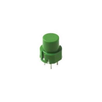 D6 SPST Momentary Key Switch - Gray