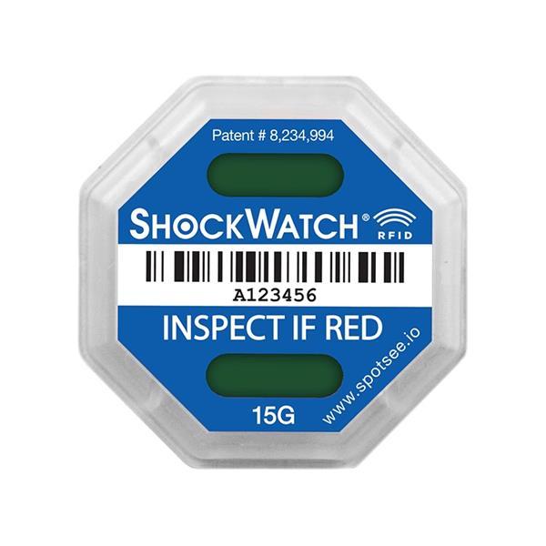 SpotSee ShockWatch RFID Impact Indicator - 15G (Blue)