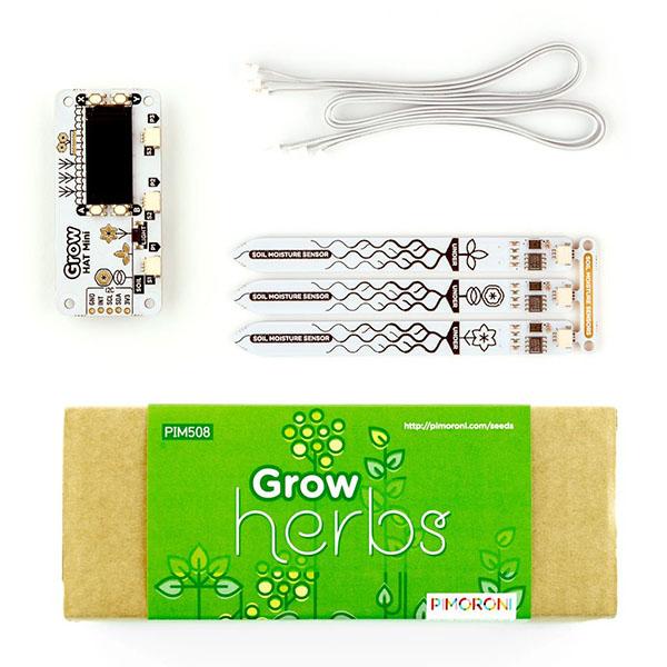 Pimoroni PIM518 Grow - Grow Kit + Herb Pack