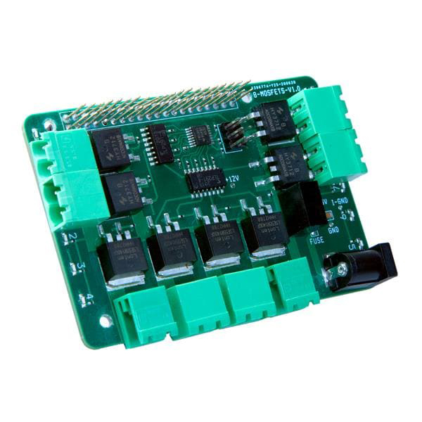 Crowd Supply 8-MOSFET Solid-State Power Driver