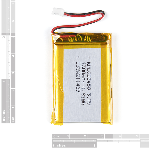 Lithium Ion Battery - 1250mAh (IEC62133 Certified)