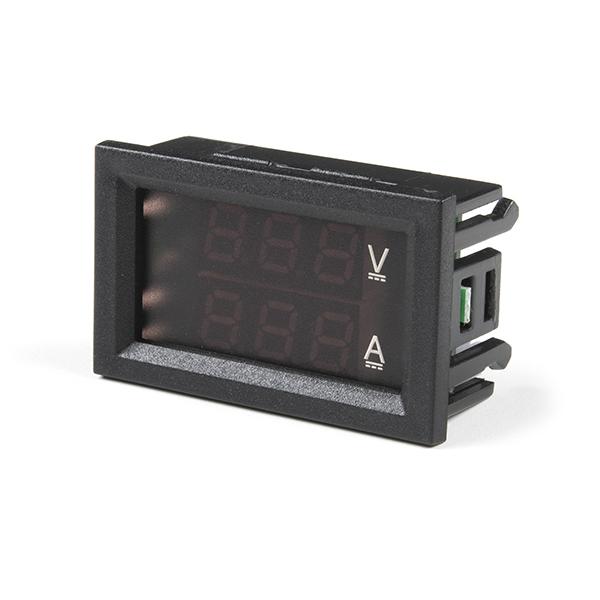 Digital Voltmeter Ammeter 30V 10A Red and Blue