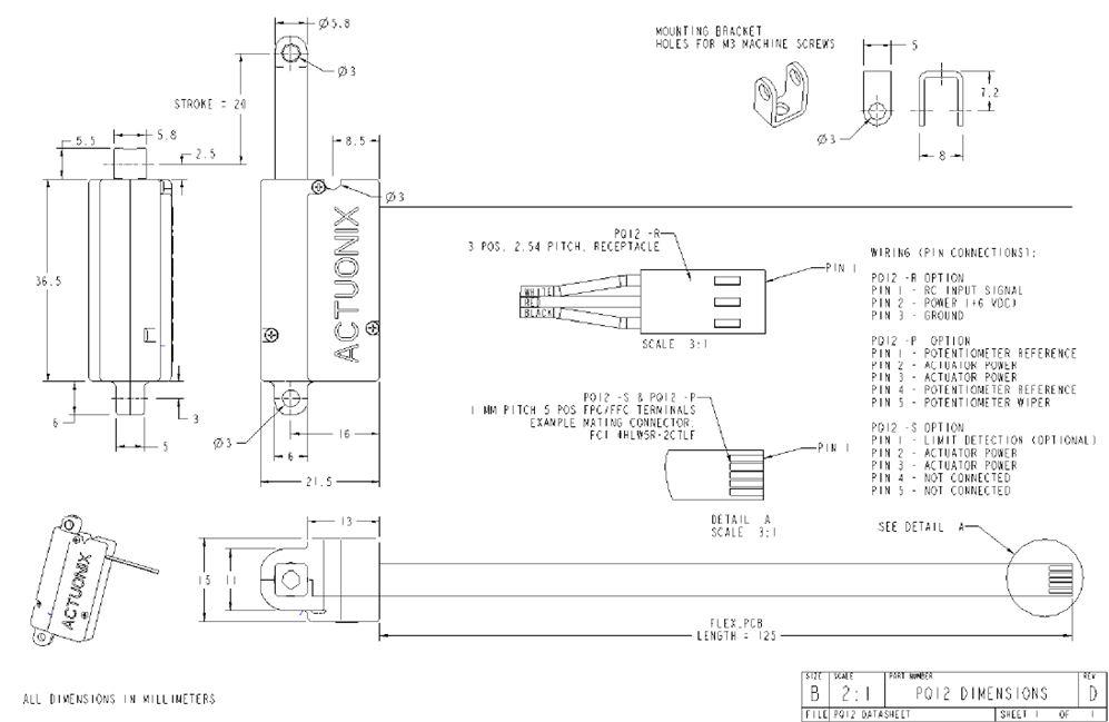Actuonix PQ12-100-6-R Micro-Actuator