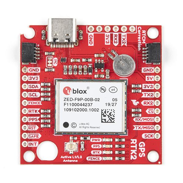 SparkFun GPS-RTK2 Board - ZED-F9P (Qwiic) (Ding & Dent)
