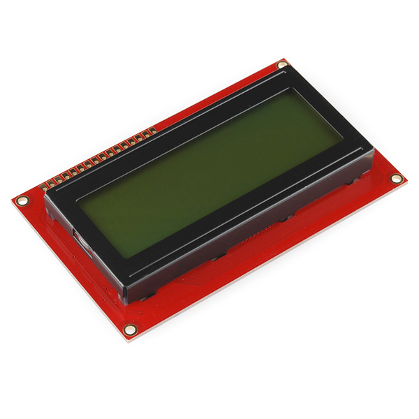 Basic 20x4 Character LCD - Black on Green 5V
