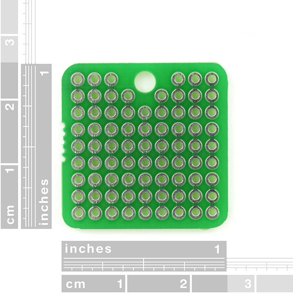 "ProtoBoard - Square 1"" Single Sided"