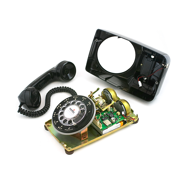 Bluetooth Portable Rotary Phone Black