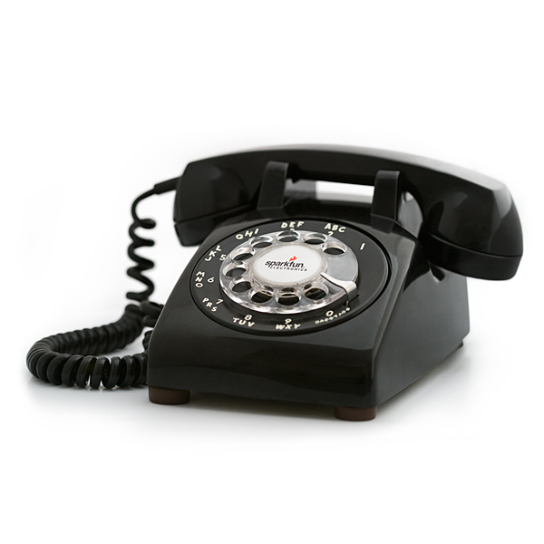 Portable Rotary Phone - Black