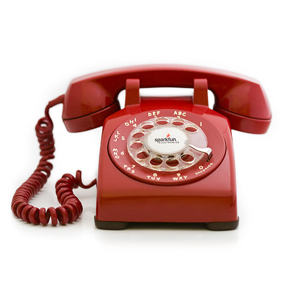 Portable Rotary Phone - Red