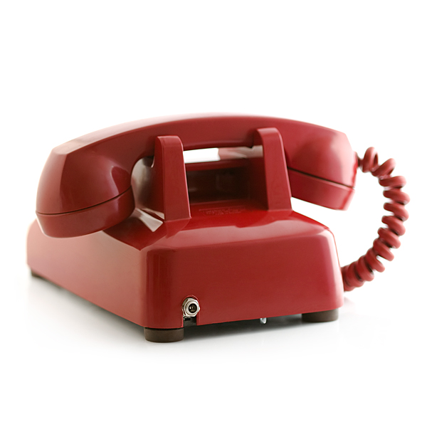 Portable Rotary Phone Red