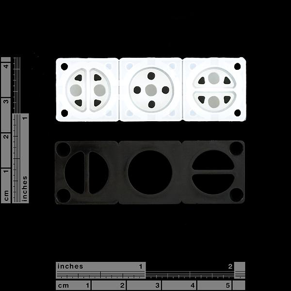 Mini Button Pad Set - White
