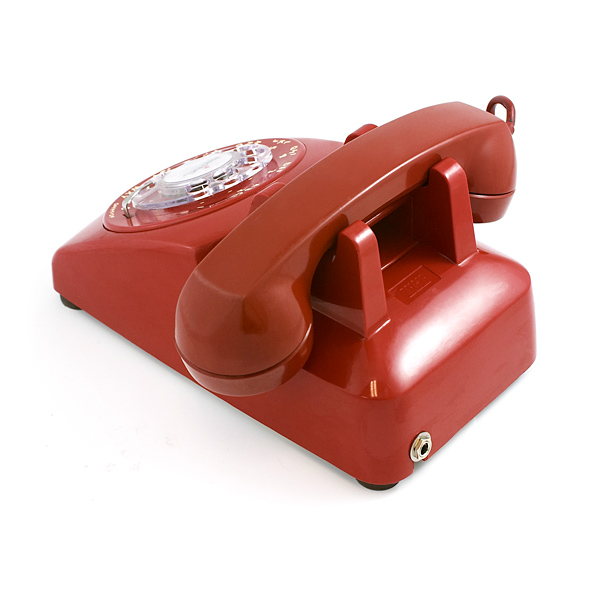 Bluetooth Portable Rotary Phone Red