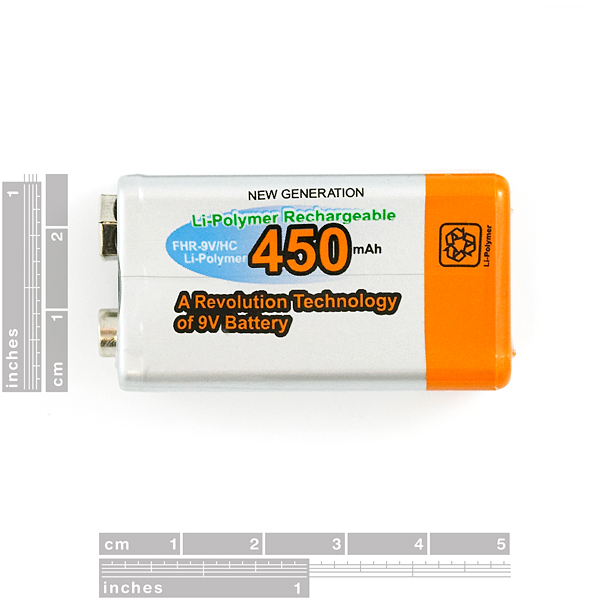 9V Li-Poly Rechargeable Battery