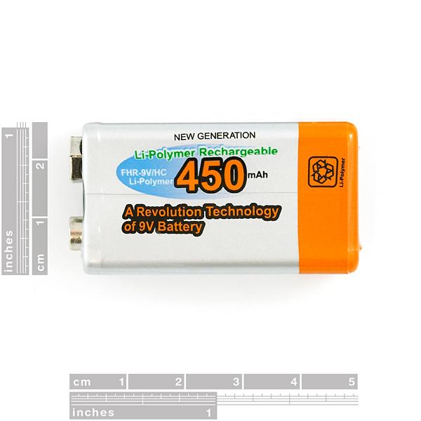 9V Li-Poly Rechargeable Battery