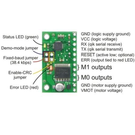 Qik Dual Serial Motor Controller