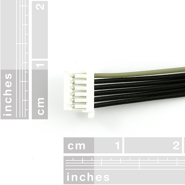 JST SH Jumper 6 Wire  - 1 Foot (EM-401 and EM-406)