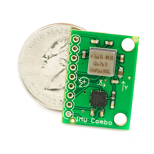 IMU Combo Board - 3 Degrees of Freedom - ADXL320/ADXRS613