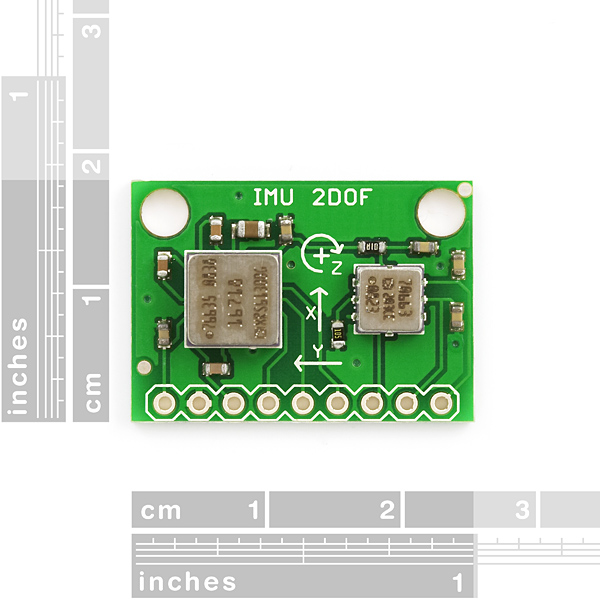 IMU Combo Board - 3 Degrees of Freedom - ADXL203/ADXRS610