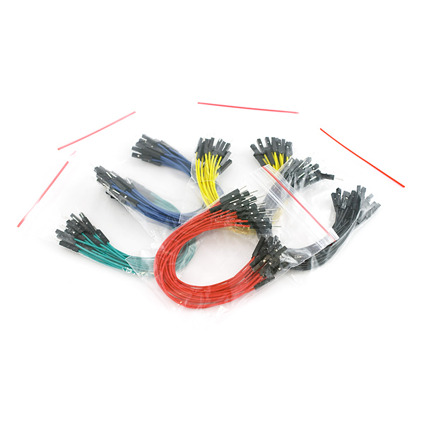 "Jumper Wires Premium 6"" M/F Pack of 100"