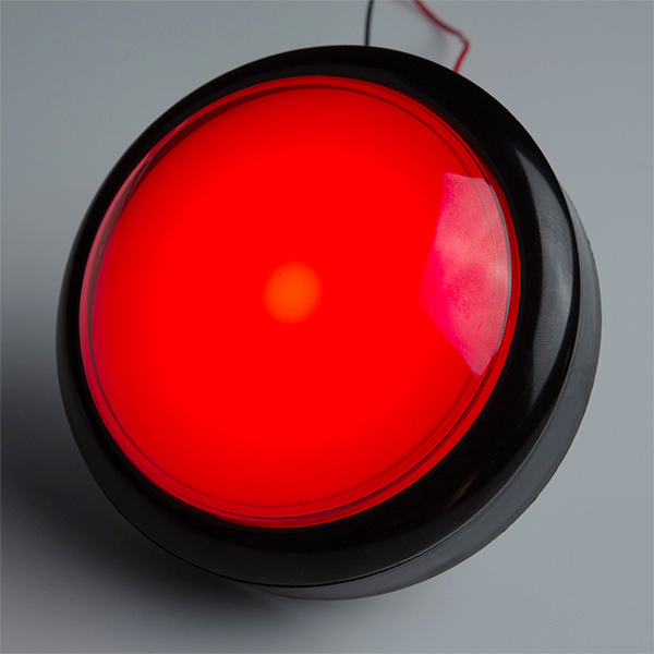 Big Dome Pushbutton - Red