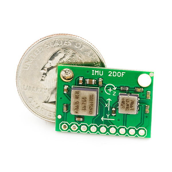 IMU Combo Board - 3 Degrees of Freedom - ADXL203/ADXRS614