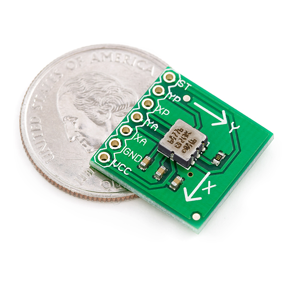Dual Axis Accelerometer Breakout Board - ADXL213AE +/-1.2g