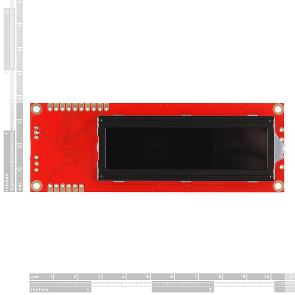 Serial Enabled 16x2 LCD - Red on Black 5V