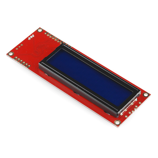 Serial Enabled 16x2 LCD - Yellow on Blue 5V