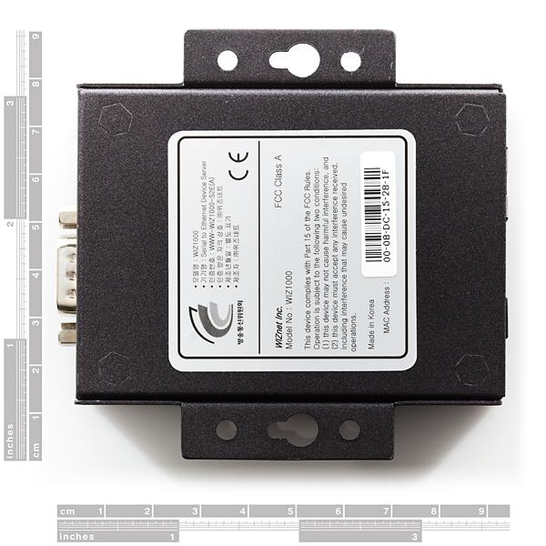 WIZnet Serial-to-Ethernet Gateway w/ External Case - WIZ1000