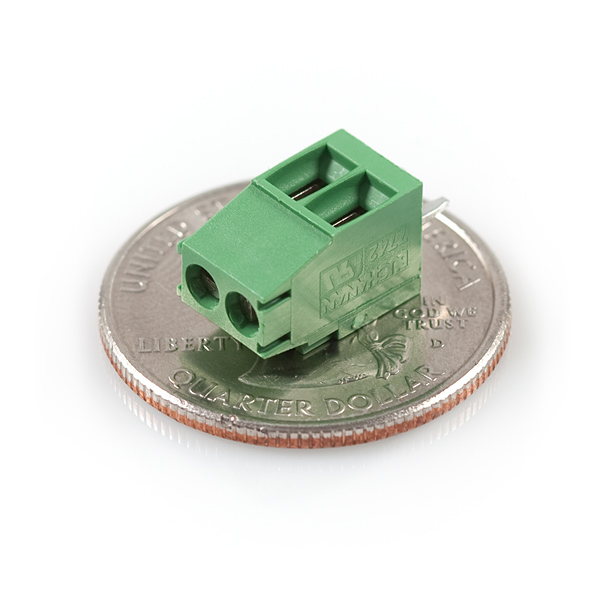 Screw Terminal 3.5mm Pitch - 2-Pin - Green