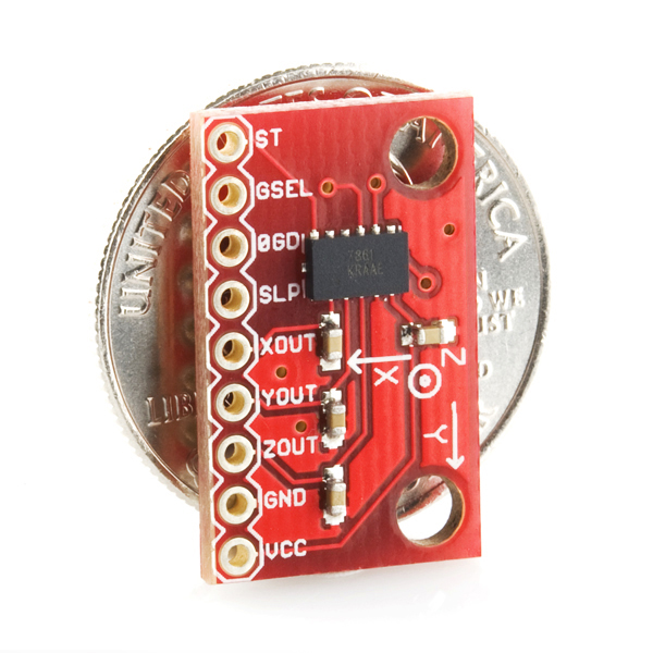 Triple Axis Accelerometer Breakout - MMA7361