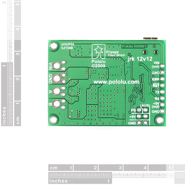 USB Motor Controller with Feedback - Jrk 12v12