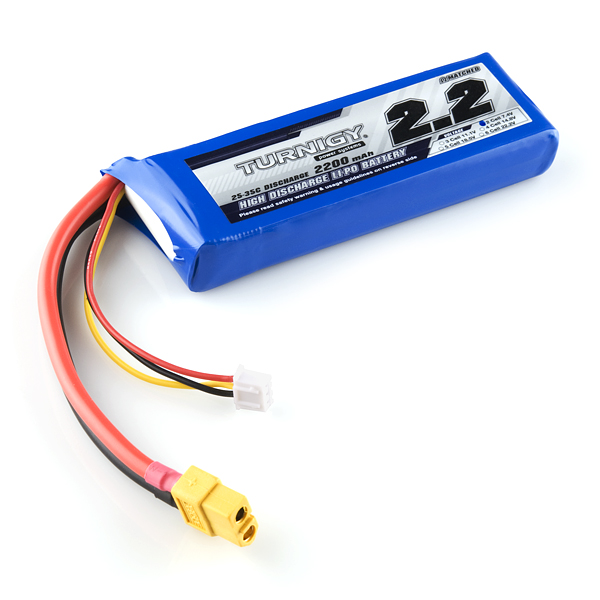 Polymer Lithium Ion Battery Pack - 2200mAh 7.4v