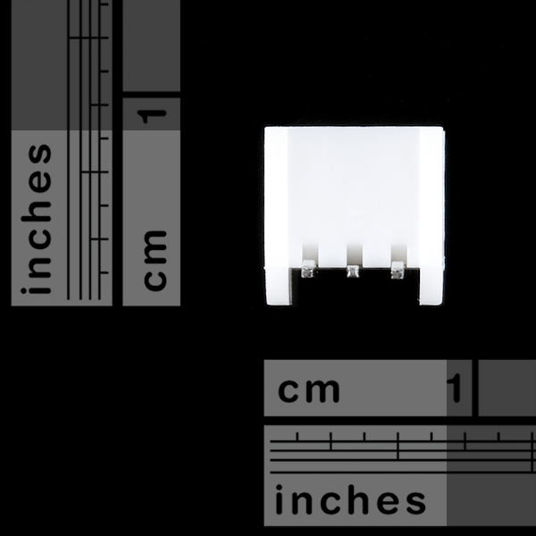 JST Right Angle Connector - Through-Hole 3-Pin