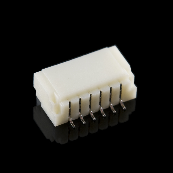 JST SH Horizontal 6-Pin Connector - SMD