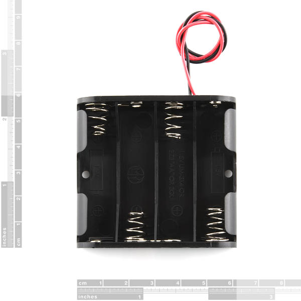 Battery Holder - 4xAA Square