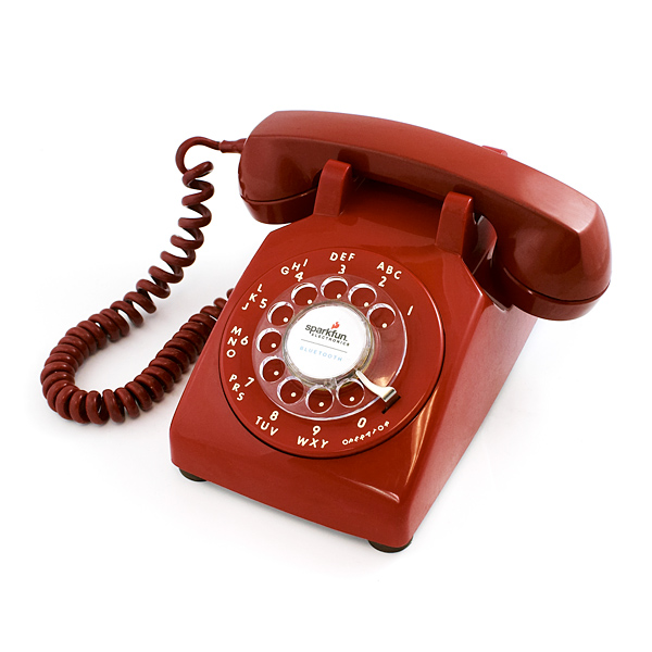 Bluetooth Portable Rotary Phone - Red
