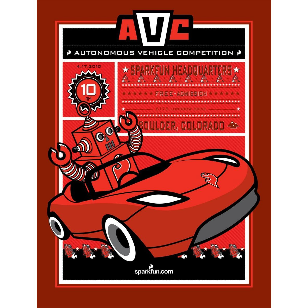 Autonomous Vehicle Competition Poster 2010