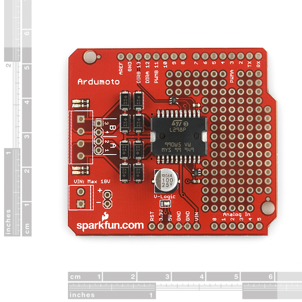 SparkFun Ardumoto - Motor Driver Shield