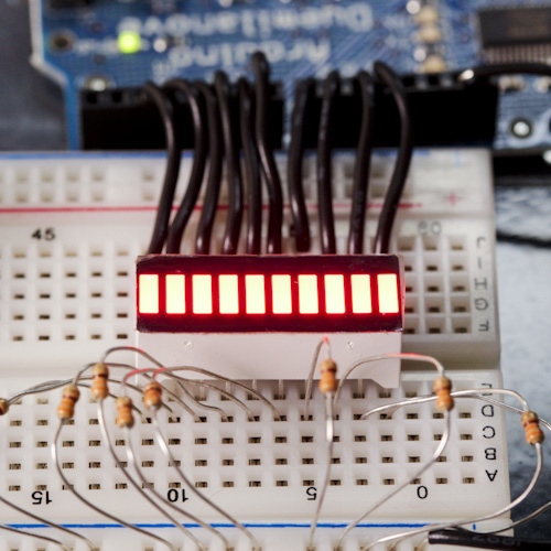 10 Segment LED Bar Graph - Red
