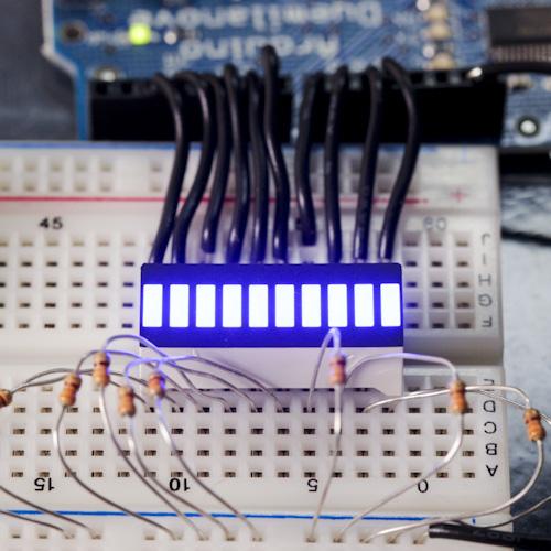 10 Segment LED Bar Graph - Blue