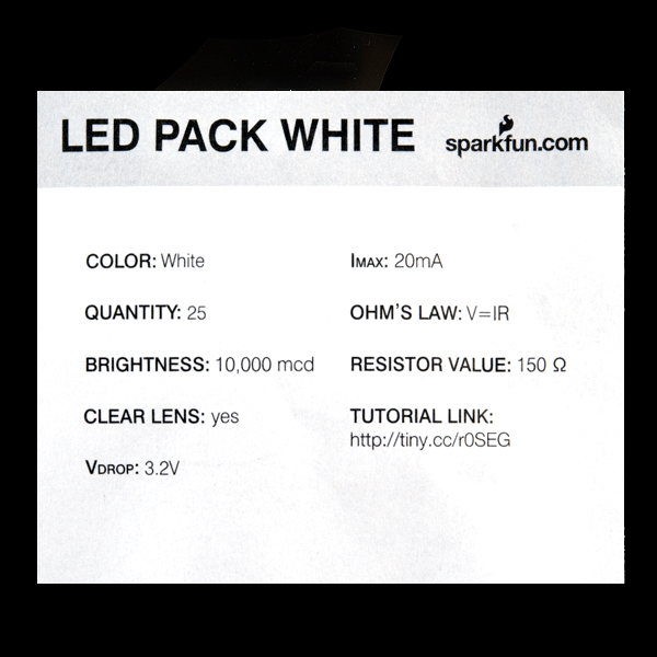 LED - Super Bright White (25 pack)