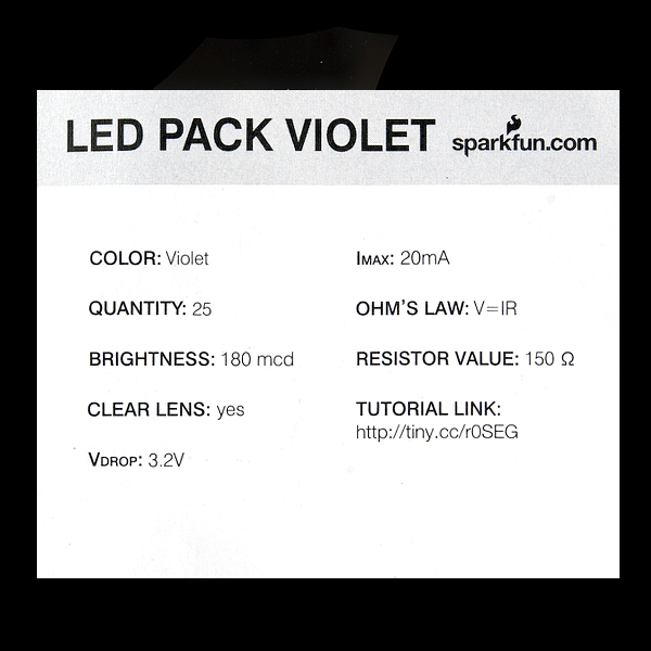 LED - Violet 5mm (25 pack)