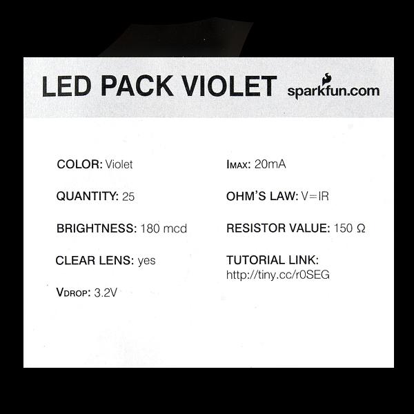 LED - Violet 5mm (25 pack)