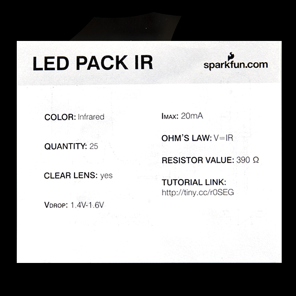 LED - Infrared 850nm (25 pack)