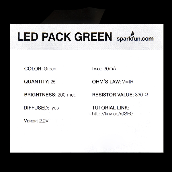 LED - Basic Green 5mm (25 pack)