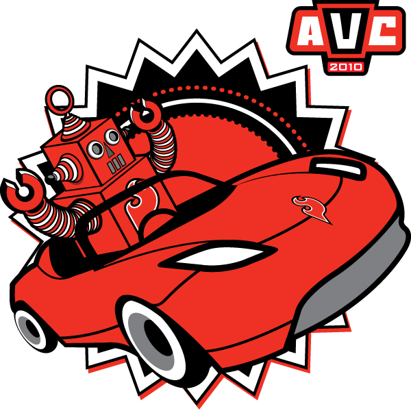 AVC 2010 Roadster Bot T-Shirt - Large