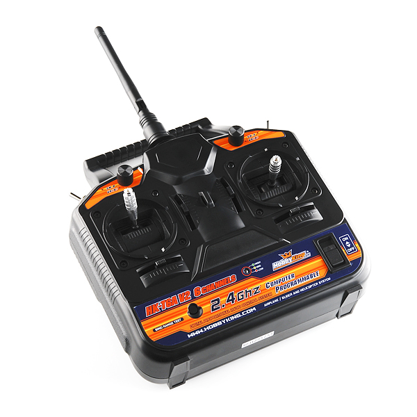 RC Transmitter and Receiver - 2.4GHz, 6-Channel