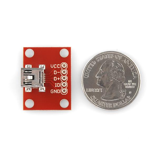 SparkFun USB Mini-B Breakout