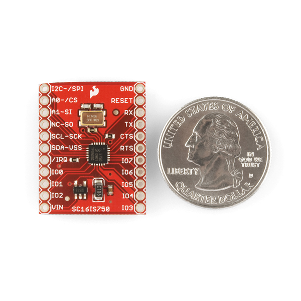 SparkFun I2C/SPI-to-UART Breakout - SC16IS750